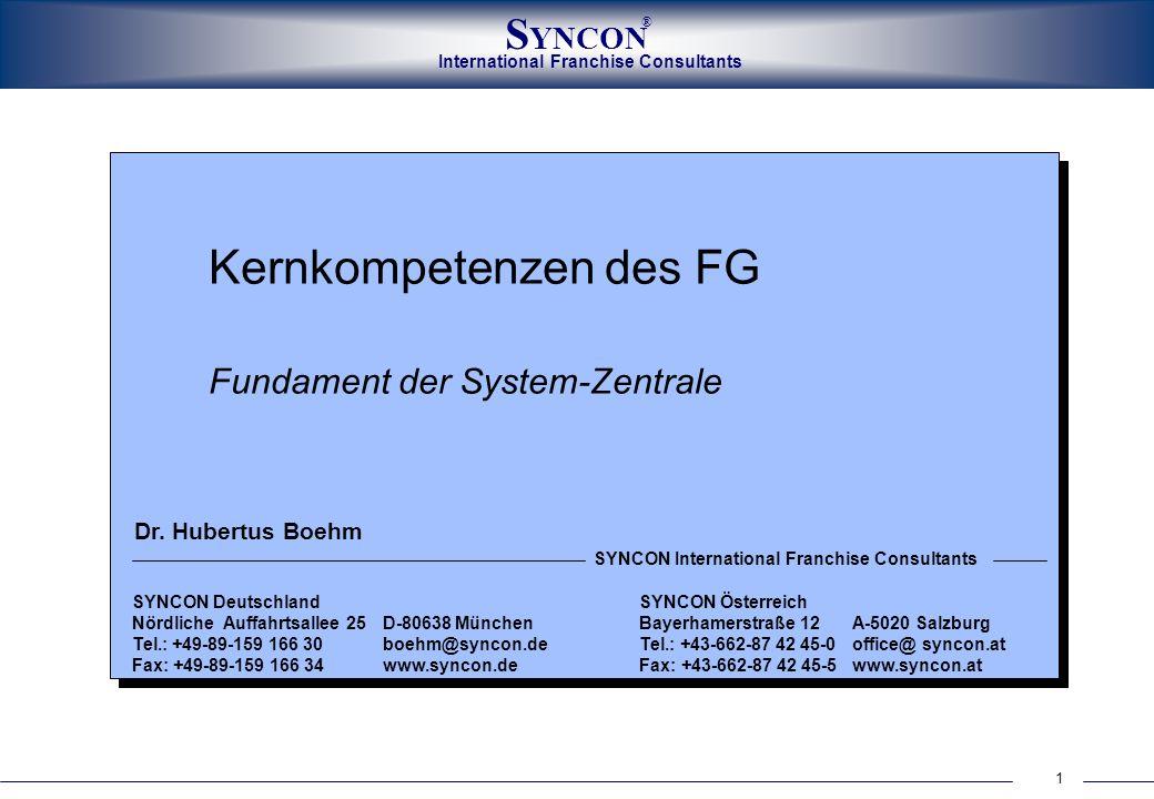Kernkompetenzen des FG