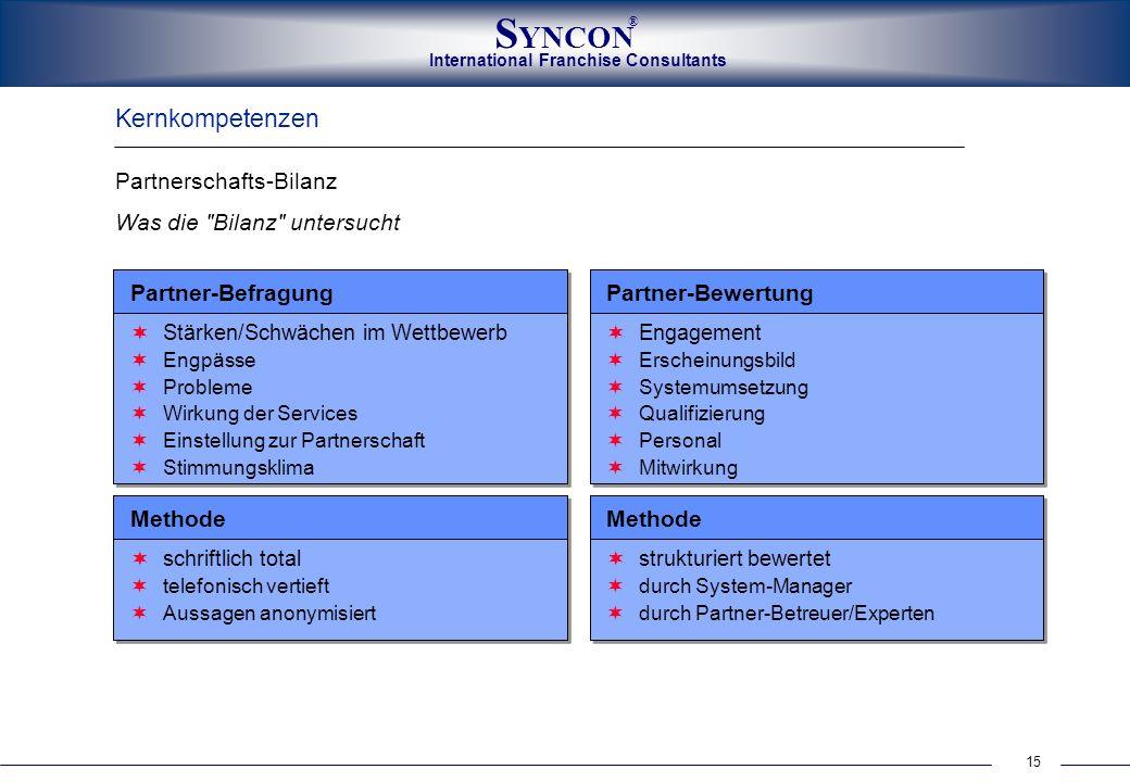 Kernkompetenzen Partnerschafts-Bilanz Was die Bilanz untersucht