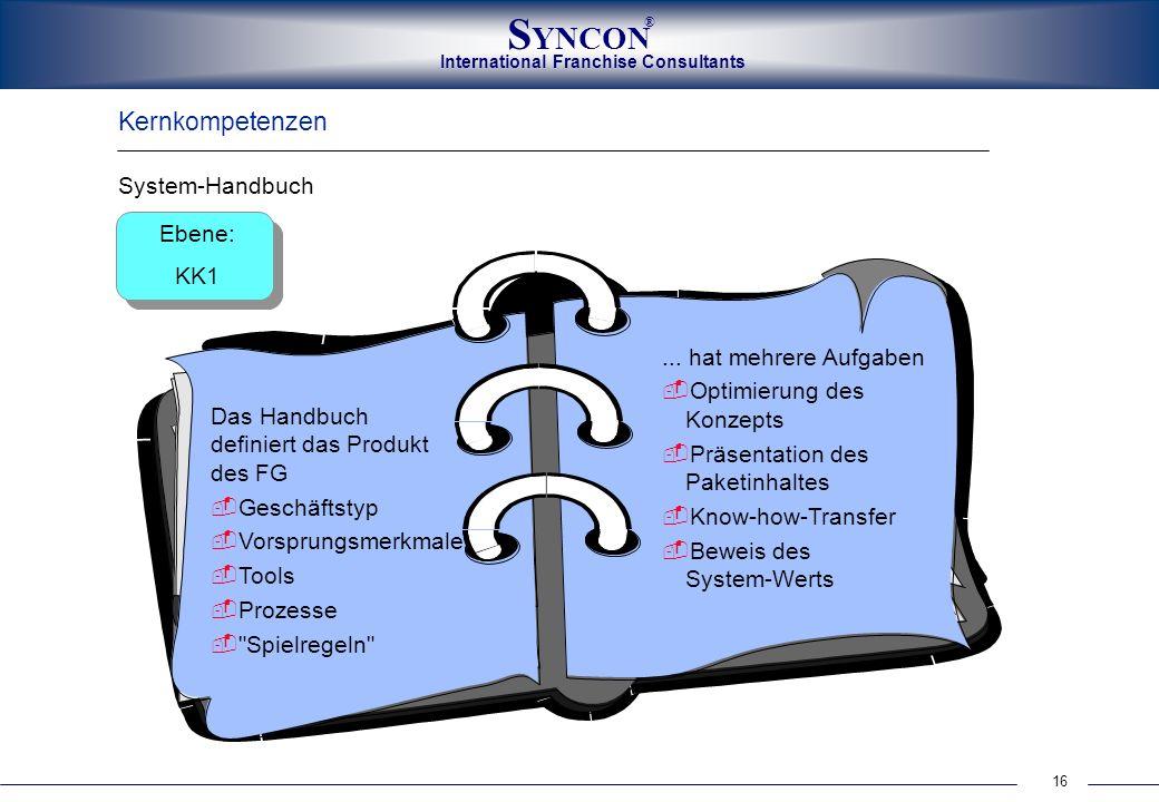 Kernkompetenzen System-Handbuch Ebene: KK1 ... hat mehrere Aufgaben
