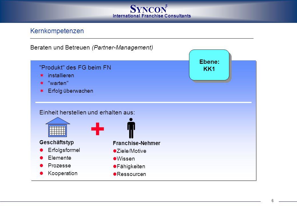 + Kernkompetenzen Beraten und Betreuen (Partner-Management) Ebene: KK1