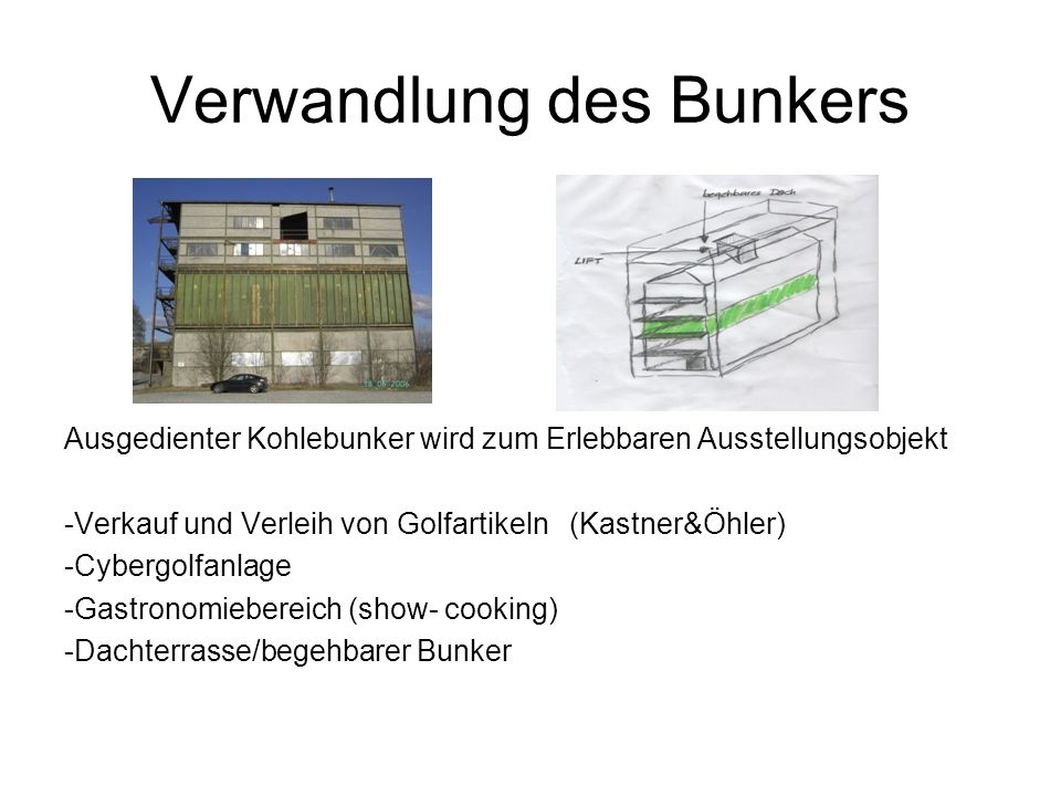 Verwandlung des Bunkers