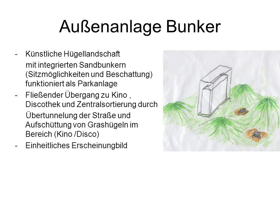 Außenanlage Bunker Künstliche Hügellandschaft
