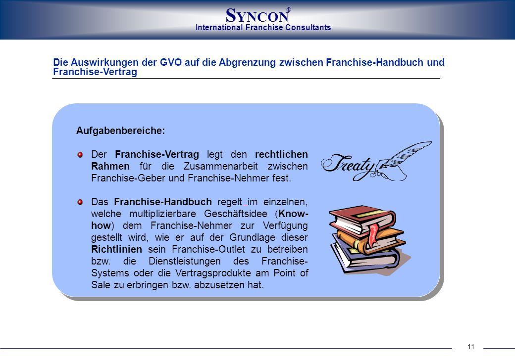 Die Auswirkungen der GVO auf die Abgrenzung zwischen Franchise-Handbuch und Franchise-Vertrag