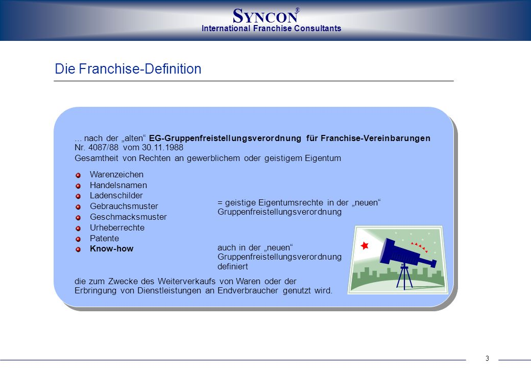 Die Franchise-Definition