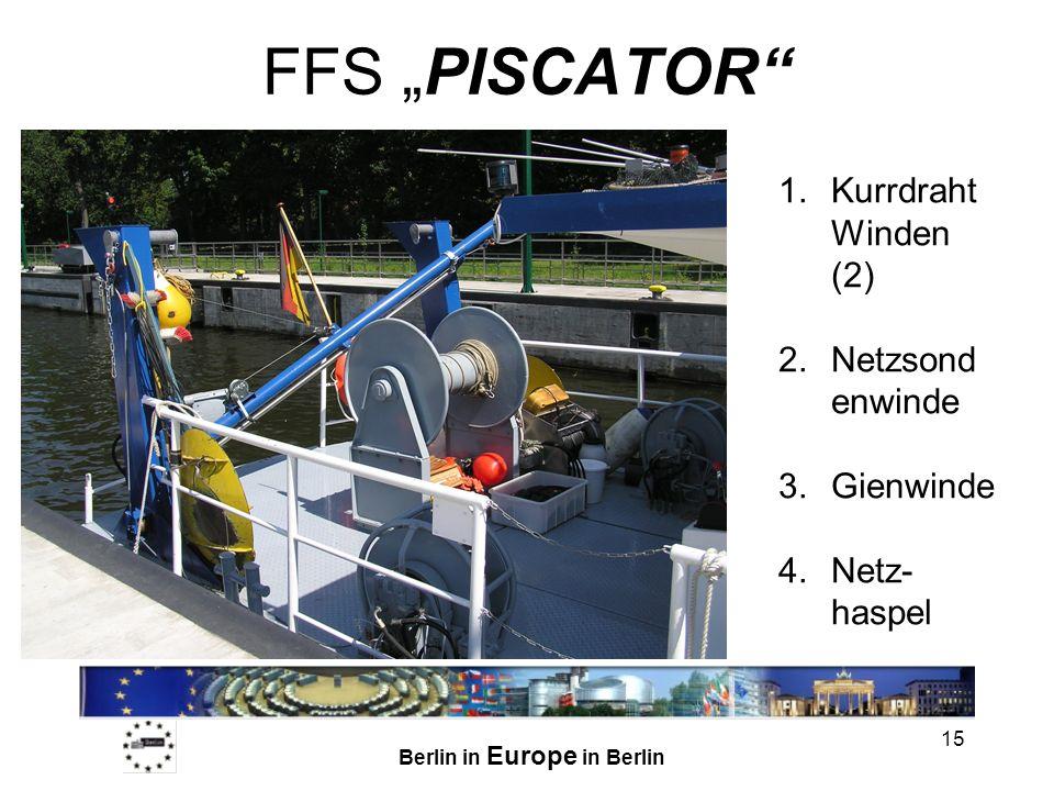 """FFS """"PISCATOR Kurrdraht Winden (2) Netzsondenwinde Gienwinde"""