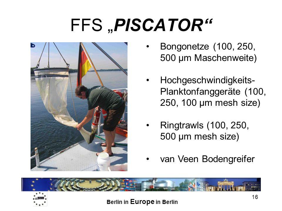 """FFS """"PISCATOR Bongonetze (100, 250, 500 µm Maschenweite)"""