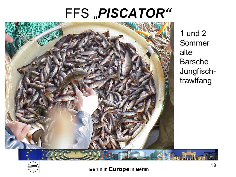 """FFS """"PISCATOR 1 und 2 Sommer alte Barsche Jungfisch-trawlfang"""