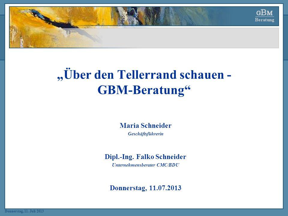 """""""Über den Tellerrand schauen - GBM-Beratung"""