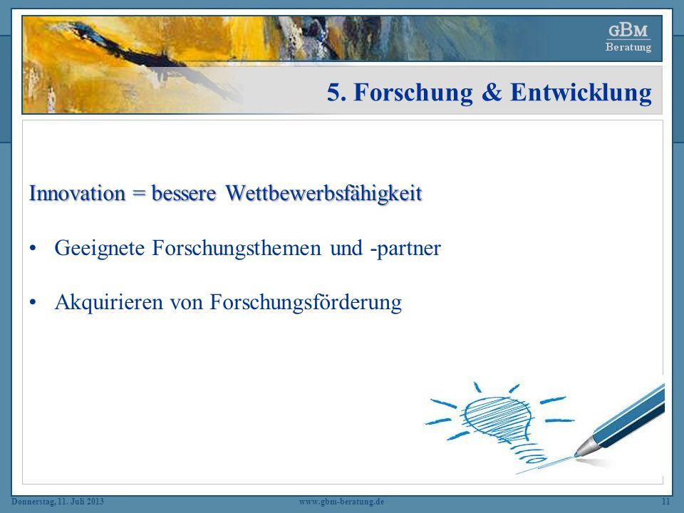 5. Forschung & Entwicklung