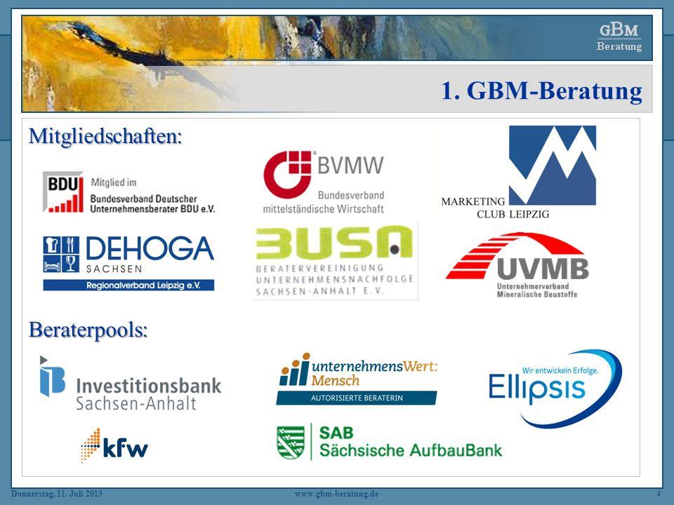 1. GBM-Beratung Mitgliedschaften: Beraterpools: www.gbm-beratung.de