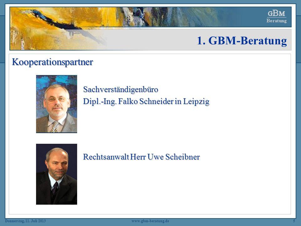 1. GBM-Beratung Kooperationspartner Sachverständigenbüro