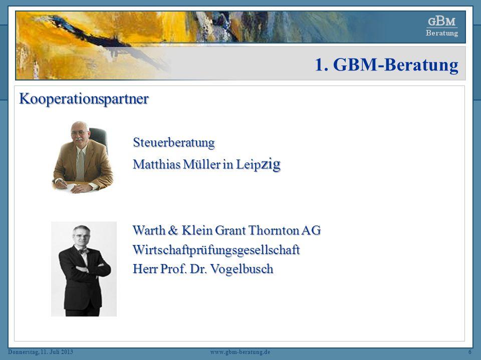 1. GBM-Beratung Kooperationspartner Steuerberatung