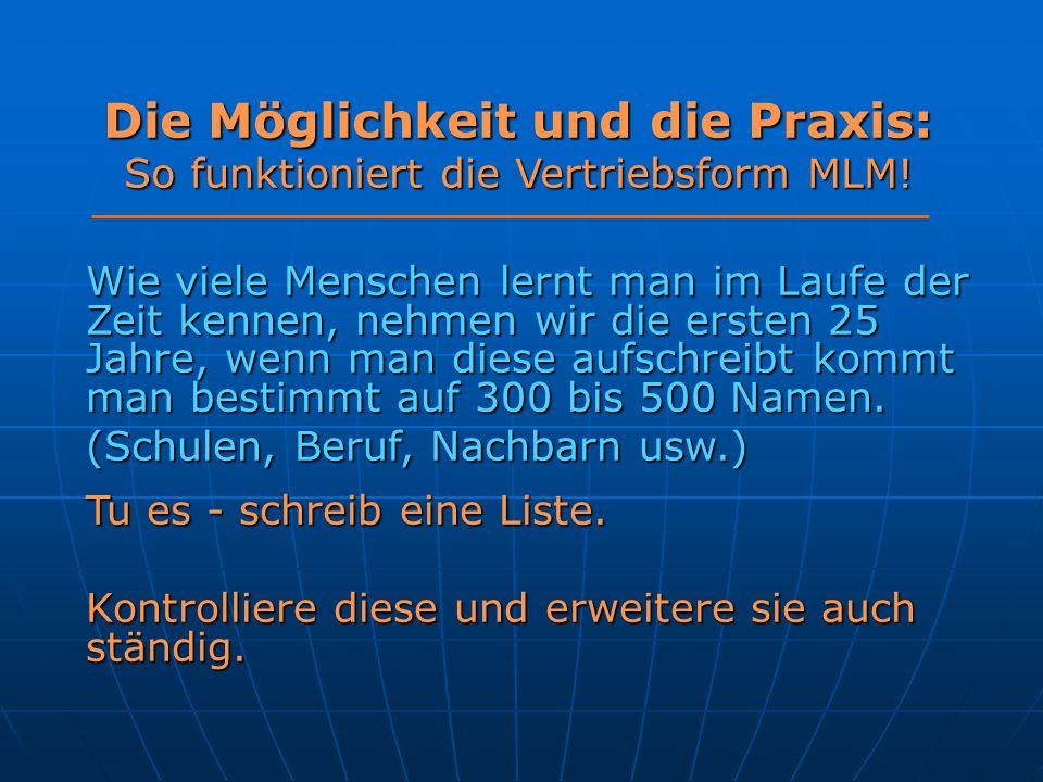 Die Möglichkeit und die Praxis: So funktioniert die Vertriebsform MLM!