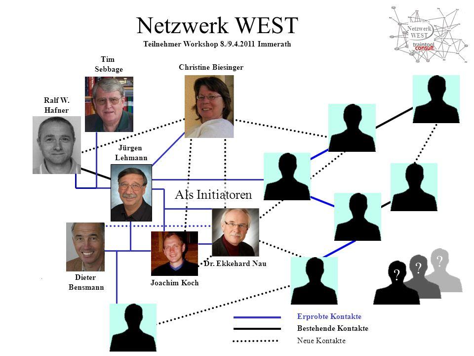 Netzwerk WEST Teilnehmer Workshop 8./9.4.2011 Immerath