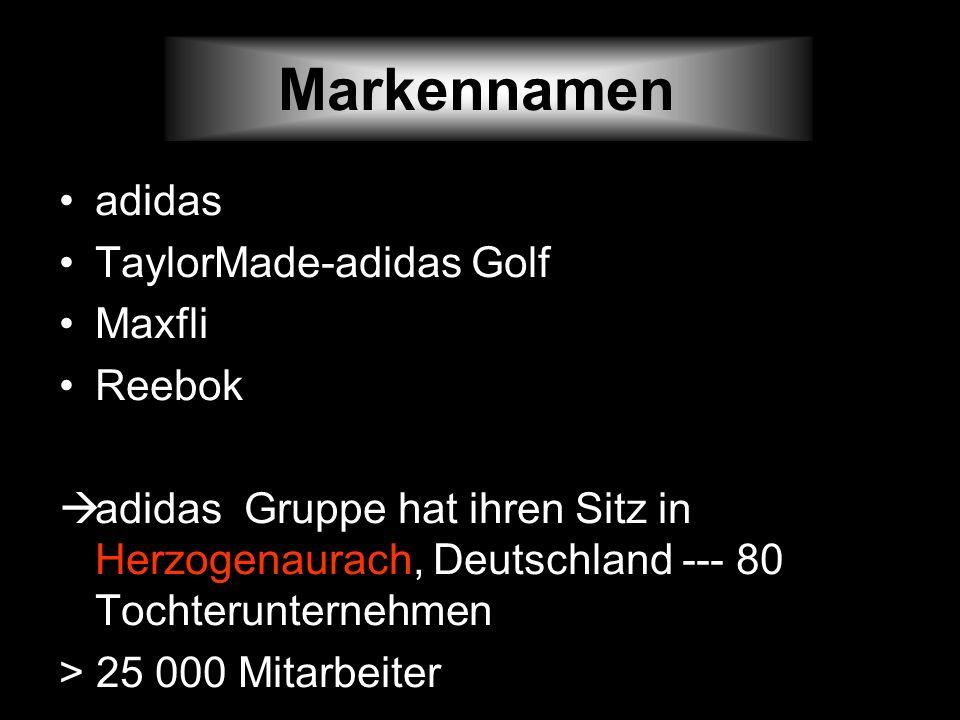 Markennamen adidas TaylorMade-adidas Golf Maxfli Reebok