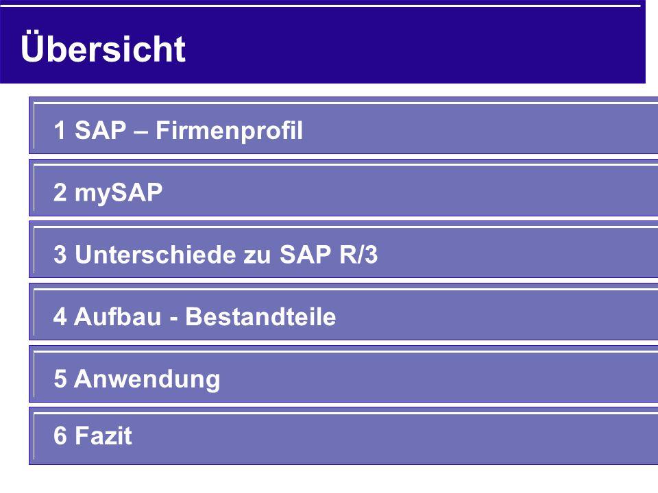 Übersicht 1 SAP – Firmenprofil