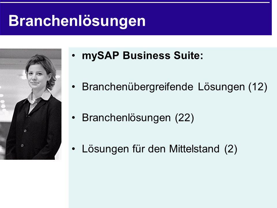 Branchenlösungen mySAP Business Suite: