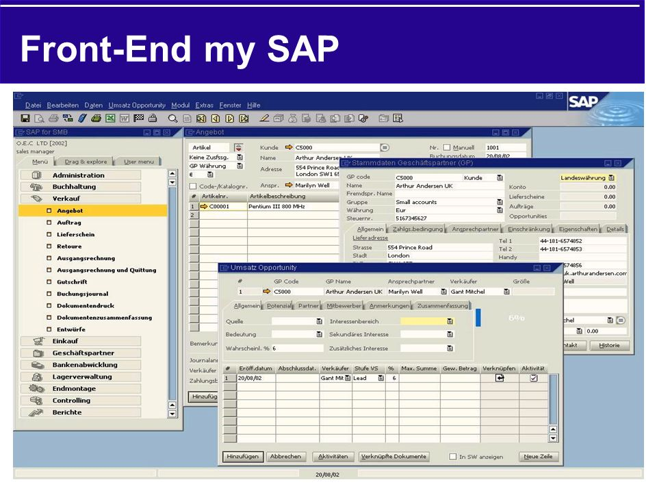 Front-End my SAP