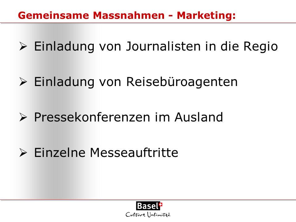 Gemeinsame Massnahmen - Marketing: