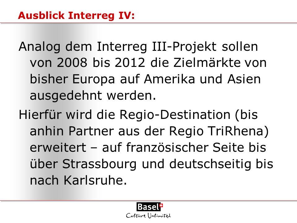 Ausblick Interreg IV: