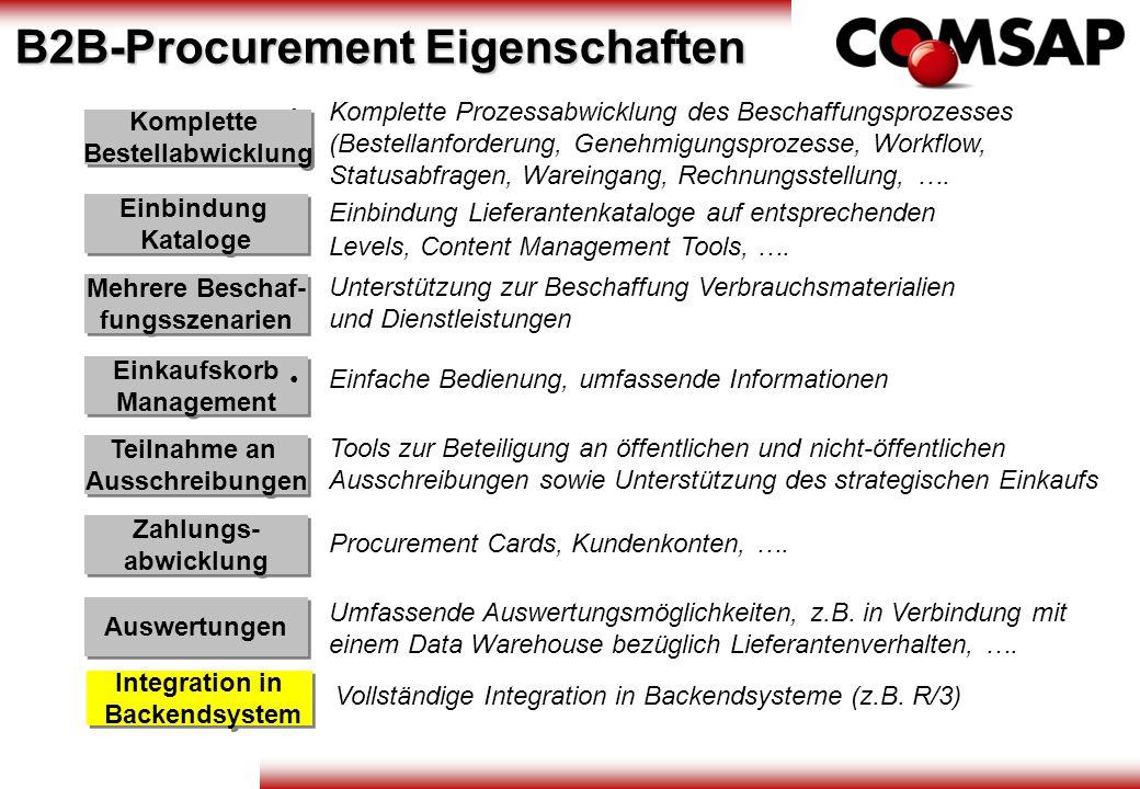 B2B-Procurement Eigenschaften