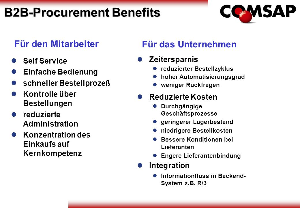 B2B-Procurement Benefits
