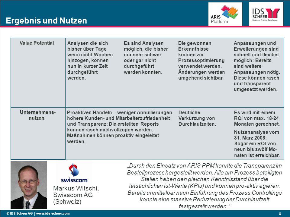 Ergebnis und Nutzen Markus Witschi, Swisscom AG (Schweiz)