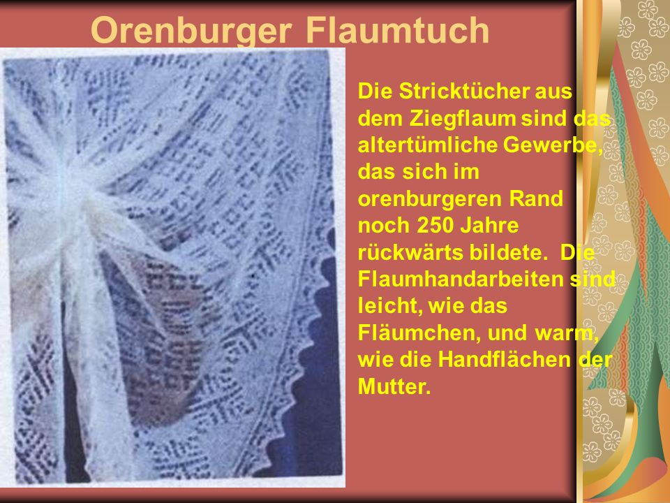 Orenburger Flaumtuch