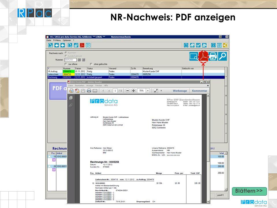 NR-Nachweis: PDF anzeigen