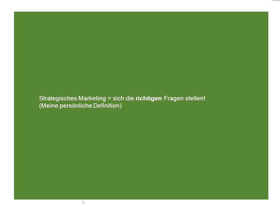 Strategisches Marketing = sich die richtigen Fragen stellen
