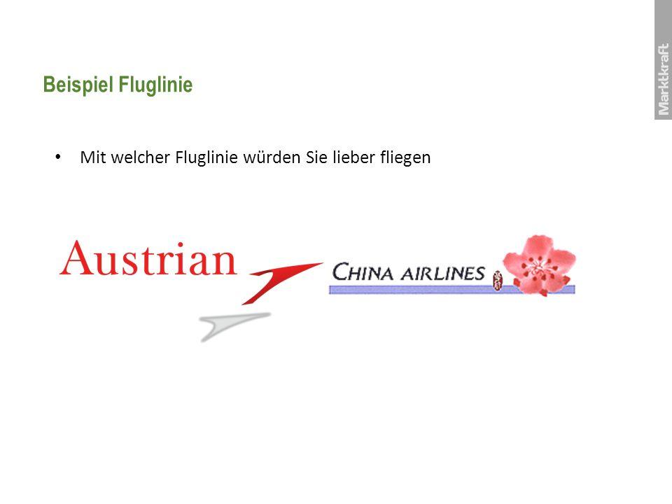 Beispiel Fluglinie Mit welcher Fluglinie würden Sie lieber fliegen