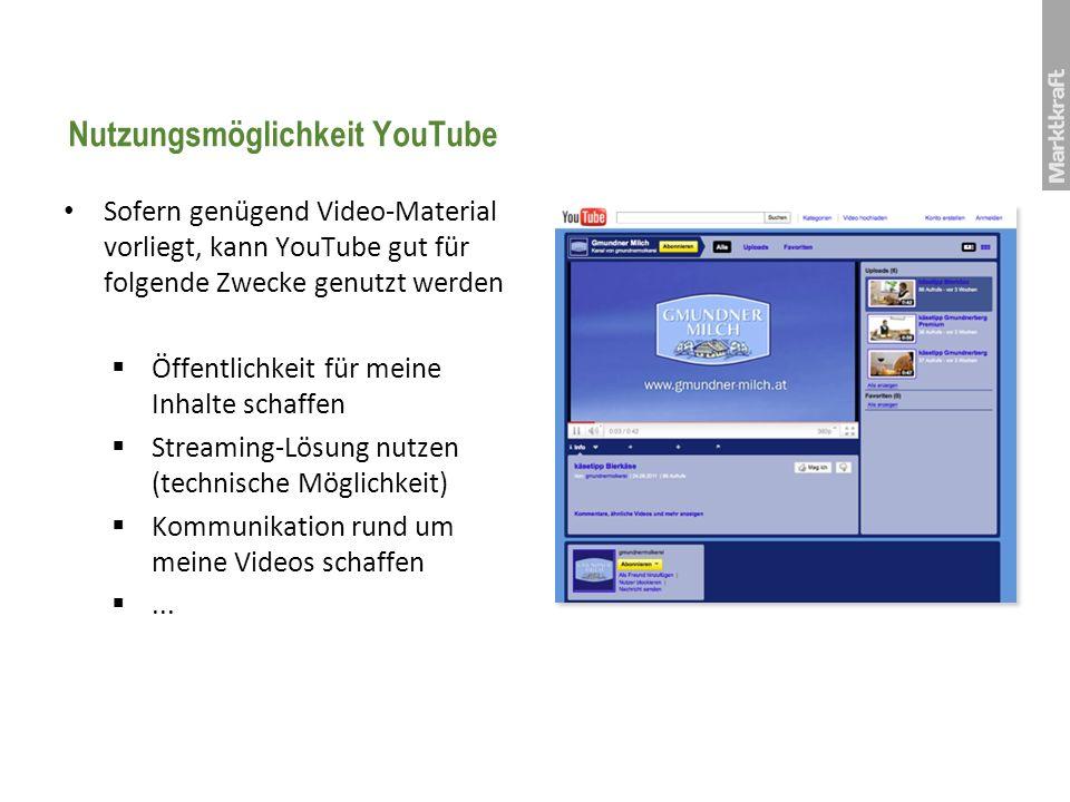 Nutzungsmöglichkeit YouTube
