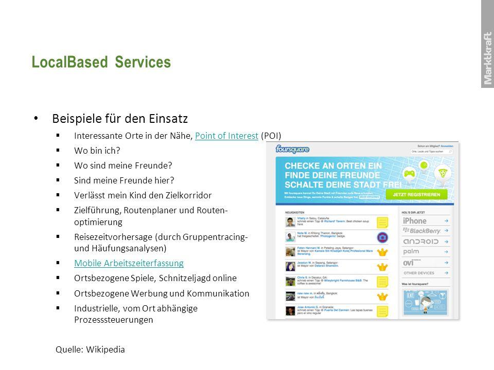 LocalBased Services Beispiele für den Einsatz