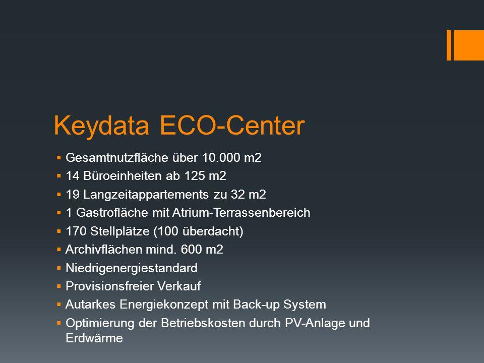 Keydata ECO-Center Gesamtnutzfläche über 10.000 m2