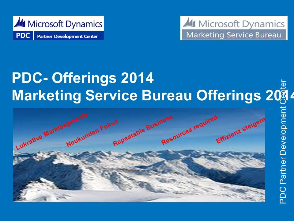 Marketing Service Bureau Offerings 2014