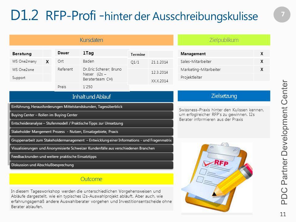 D1.2 RFP-Profi -hinter der Ausschreibungskulisse