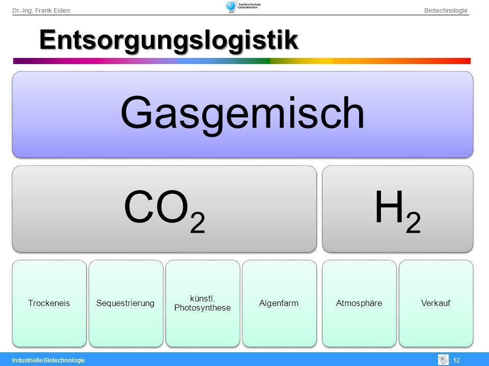 Entsorgungslogistik Gasgemisch CO2 Trockeneis Sequestrierung