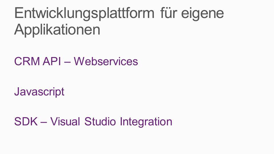 Entwicklungsplattform für eigene Applikationen