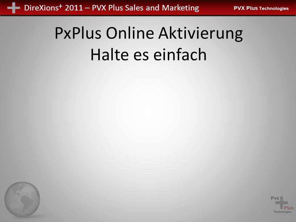 PxPlus Online Aktivierung Halte es einfach