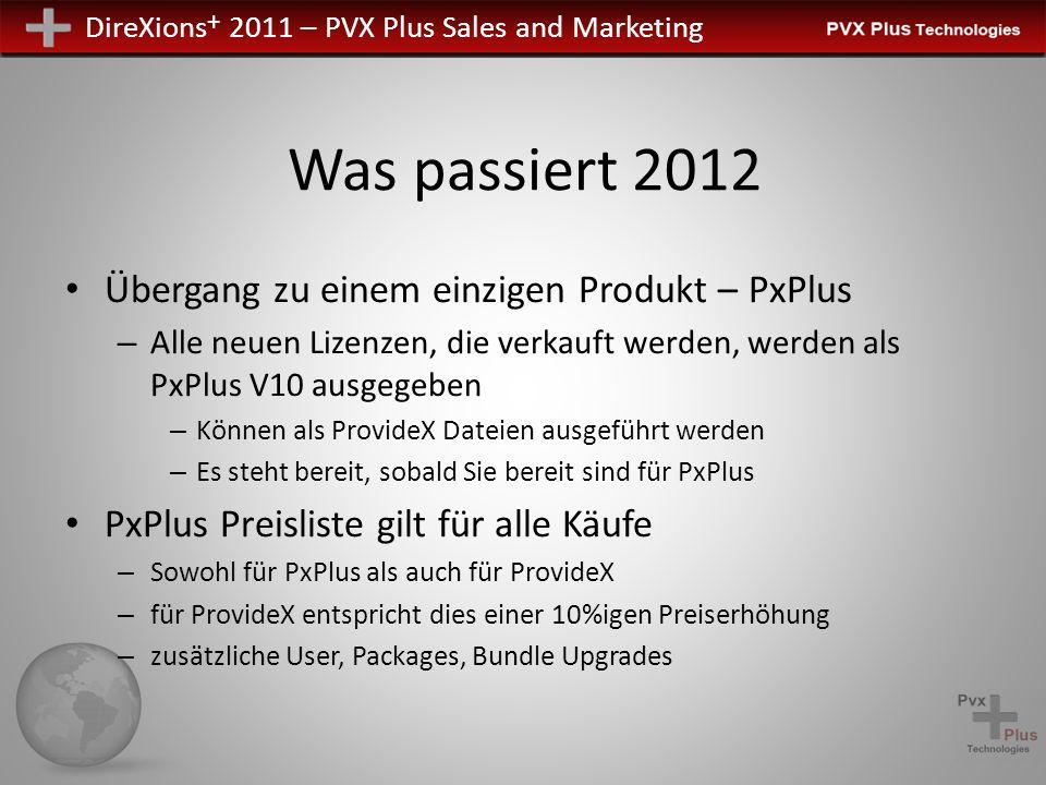 Was passiert 2012 Übergang zu einem einzigen Produkt – PxPlus