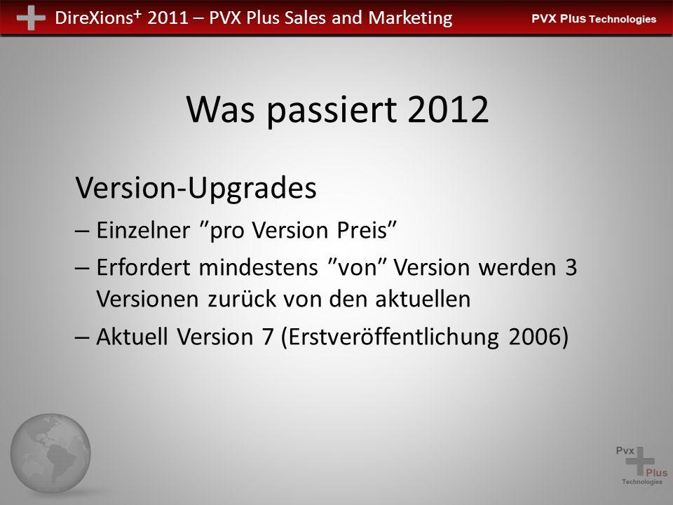 Was passiert 2012 Version-Upgrades Einzelner ″pro Version Preis″
