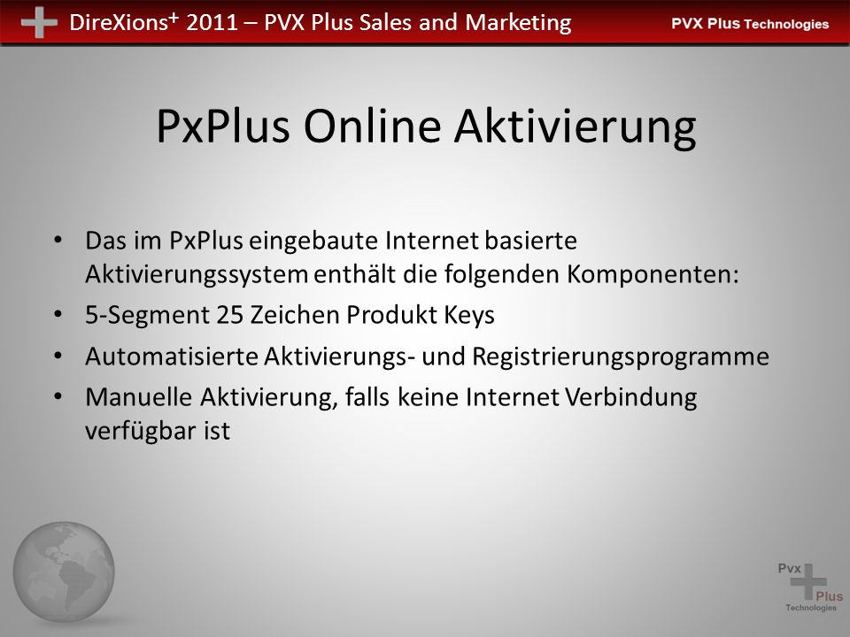 PxPlus Online Aktivierung