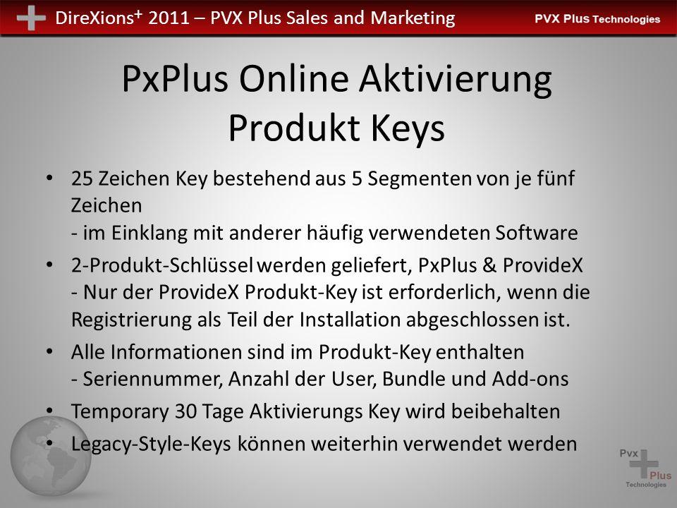 PxPlus Online Aktivierung Produkt Keys