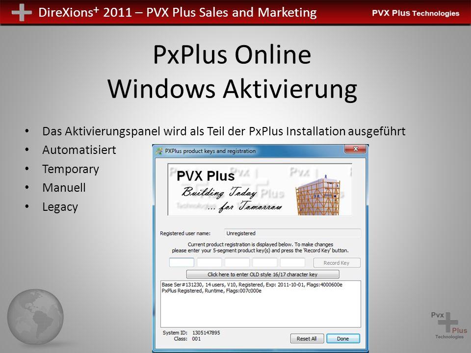 PxPlus Online Windows Aktivierung