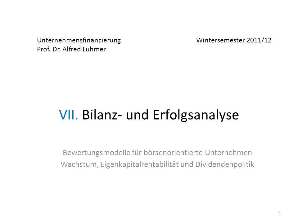 VII. Bilanz- und Erfolgsanalyse