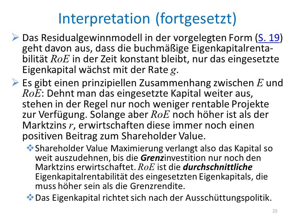 Interpretation (fortgesetzt)
