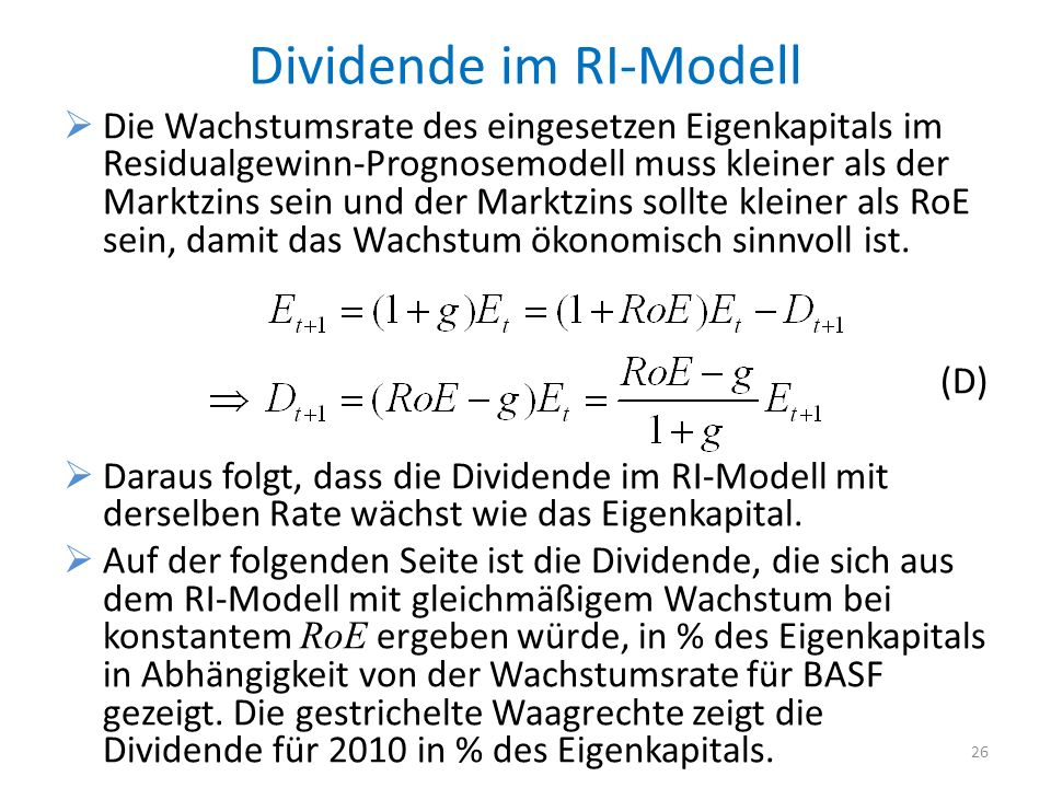 Dividende im RI-Modell