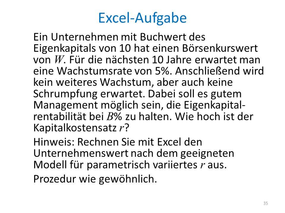 Excel-Aufgabe