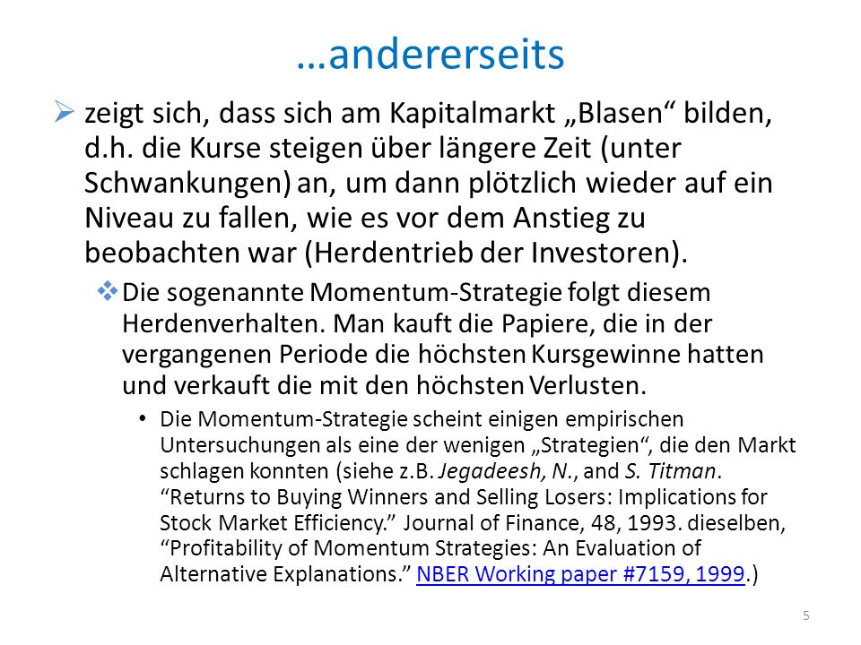 …andererseits