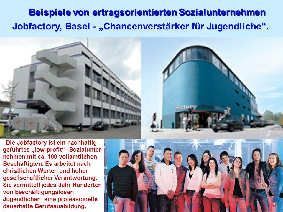 Beispiele von ertragsorientierten Sozialunternehmen